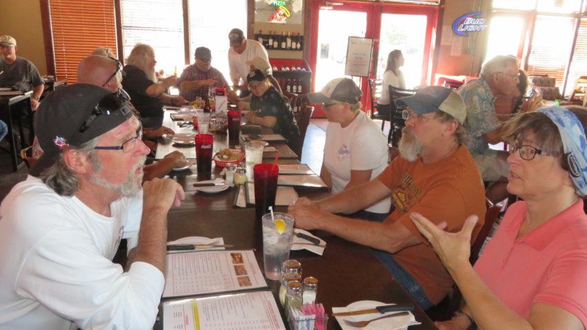 Dinner with friends, Alpine, TX