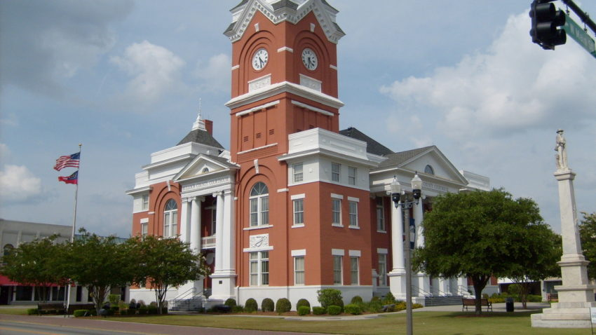 The courthouse in Statesboro, GA, a town in the other America.