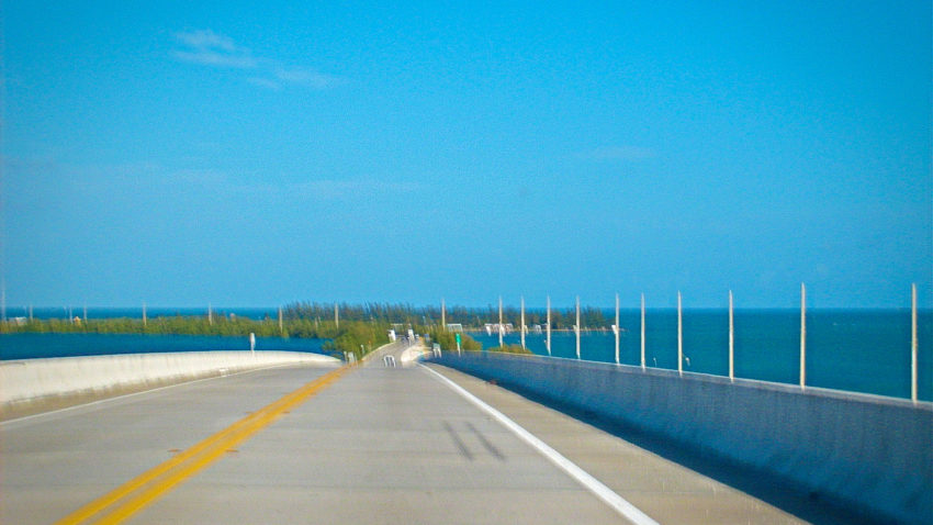 "USA Four Corners Tour Day 6. Natural features half of the ""two keys"" along US-1 in the Florida Keys"