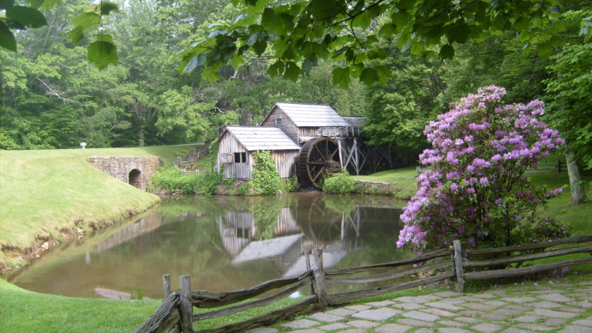 USA Four Corners Journal Day 9. My first special treat: Mabry Mill on the Blue Ridge Parkway
